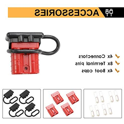 BUNKER INDUST Quick Connect Harness Kit 50A Disconnect Plug Auto Car Electrical Devices,4