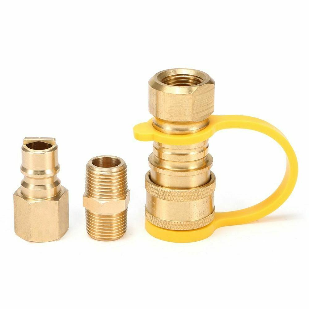 gas quick connect propane adapter fittings solid