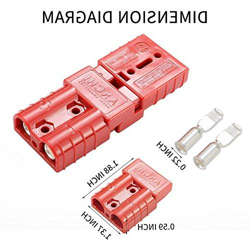 LITE-WAY 6-10 Gauge Battery Quick 2pcs 50A Quick Connect/Disconnect Wire Plug for Recovery Electrical