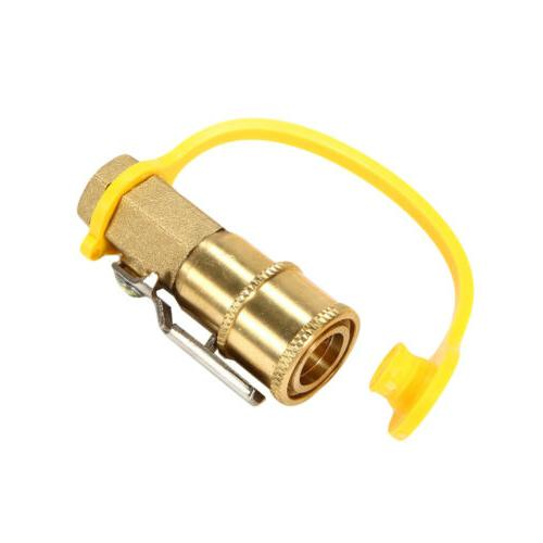 """NEW 1/4"""" Propane/Natural Quick Disconnect Coupler w/Ball"""