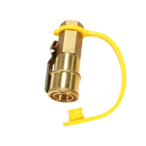 """NEW 1/4"""" Inlet Propane/Natural Gas Disconnect Coupler w/Ball Valve"""