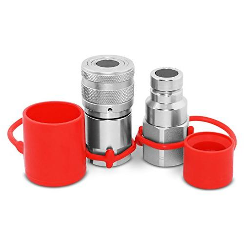 """1/4"""" NPT Flat Face Hydraulic Quick Connect Coupler / Couplin"""