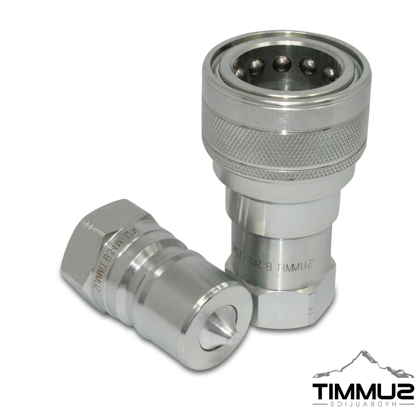 """3/4"""" NPT ISO 7241-B Quick Disconnect Hydraulic Coupling / Co"""