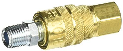 "Milton S-711 1/4"" NPT M Style Coupler and Plug"