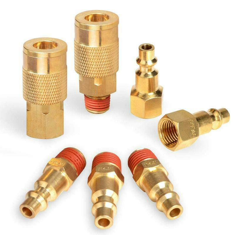 Powryte Elite 7-Piece 1/4-Inch Industrial Solid Brass Quick