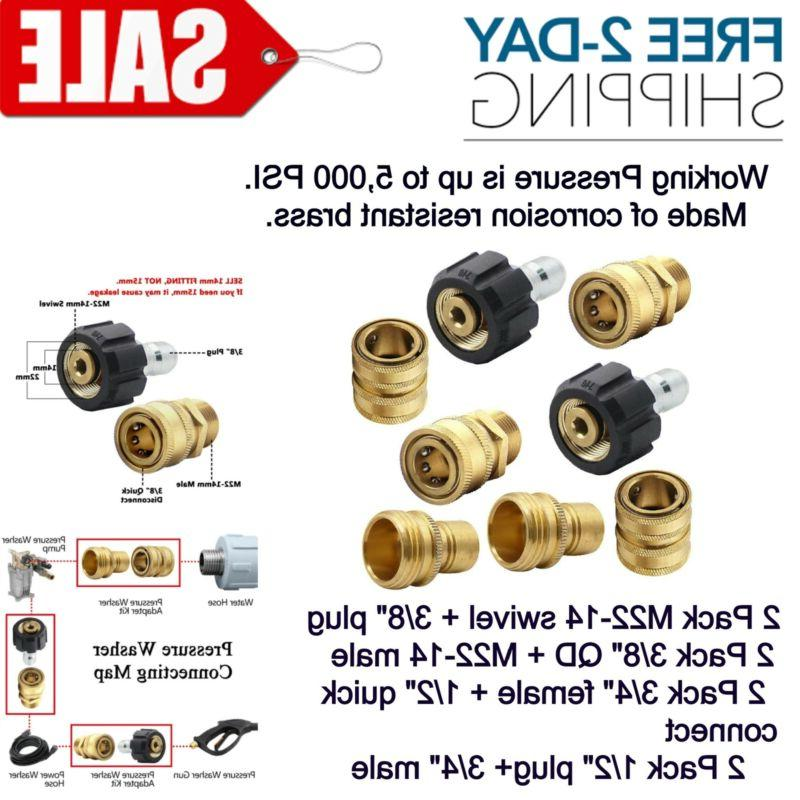 pressure washer adapter set quick disconnect kit