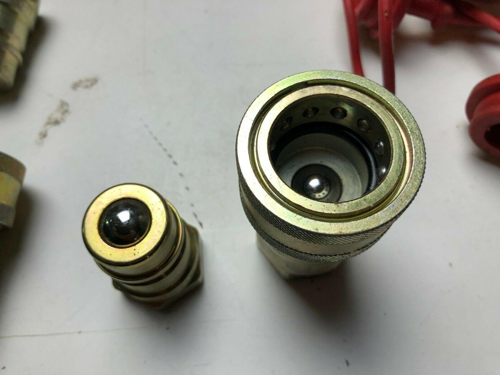 SET Coupler Hydraulic Disconnect with Covers