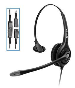 Monaural Headset with Microphone and Quick Disconnect, RJ9 P