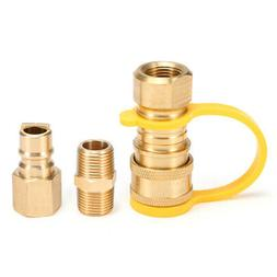 Natural Gas Connect Adapter Fittings Propane Hose Quick Disc