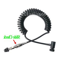 New Paintball Coil Remote Hose Line with Quick Disconnect &