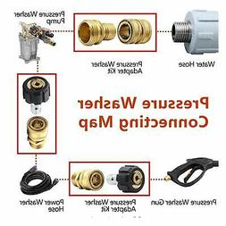 Pressure Washer Connector Adapter Set Quick Disconnect M22 S