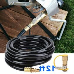 """Propane Hose with Shutoff + 1/4""""inch Quick Disconnect RV Gas"""