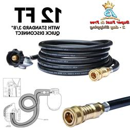 12ft Propane Regulator Hose with 3/8in Female Quick Connect
