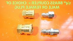 "QUICK COUPLER SET BRASS HOTSY DISCONNECT Socket 1/4"" FPT FEM"