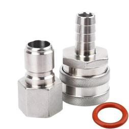 MRbrew Quick Disconnect 304 Stainless Steel Set 1/2'' FPT Ma