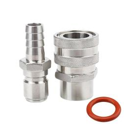 MRbrew Quick Disconnect 304 Stainless Steel Set 1/2'' FPT Fe