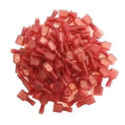 Baomain 100 pcs Red 22/18- Gauge Nylon Male Fully-Insulated