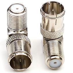 ANHAN Right Angle F-Type Female to F-Quick Push On Male Plug