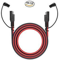 KeyLine Chargers O Ring Terminal SAE Connector with Black Universal 18 AWG 2-Pin Quick Connect//Disconnect Plug