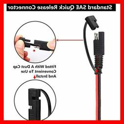 4 PCS 12V SAE TO SAE Quick Disconnect Extension Cable With D