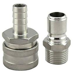 Stainless Steel Quick Disconnect Set by The Weekend Brewer (