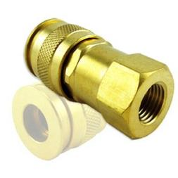 UNIVERSAL BRASS SNAP AIR TOOLS COUPLER QUICK DISCONNECT HOSE