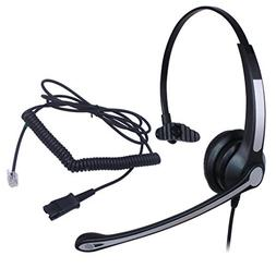Audicom Wired Call Center Hands-free Headset Headphone Noice