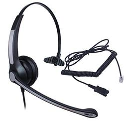 Audicom Wired Headset Headphones Ear Phone + Quick Disconnec